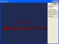 Tcl3D Presentation Window
